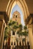 Kloster och torn Sts Andrew domkyrka Amalfi italy arkivbild