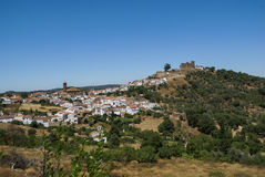 Kloster på Cortegana, Huelva, Andalusia, Spanien Arkivfoto