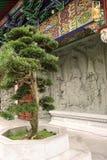 Kloster på den Lantau ön royaltyfri foto