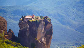 Kloster på Meteora Arkivfoto