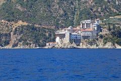 Kloster på Mount Athos Royaltyfri Fotografi