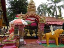 Kloster på Pha som Luang stupa i Vientiane, Laos Royaltyfri Foto
