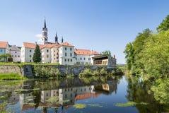 Kloster på Vyssi Brod, Tjeckien Royaltyfri Bild