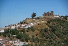 Kloster på Cortegana, Huelva, Andalusia, Spanien Royaltyfri Foto
