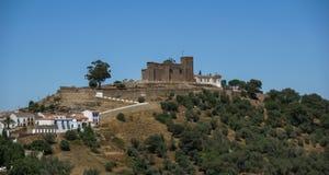 Kloster på Cortegana, Huelva, Andalusia, Spanien Royaltyfri Bild