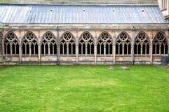 Kloster på Lincoln Cathedral Arkivbild