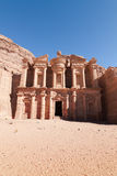 Kloster på Petra Royaltyfria Bilder