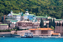 Kloster Panteleimonos på Mount Athos i Grekland Fotografering för Bildbyråer