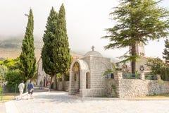 Kloster Rezevici in Montenegro Stockbilder
