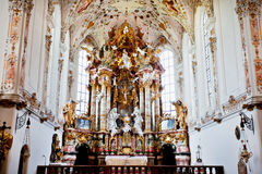 Kloster in Rottenbuch, Deutschland Lizenzfreies Stockbild