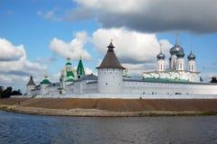 Kloster in Russland Stockbild