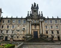Kloster San Martino Pinario, Santiago de Compostela, Spanien Arkivfoto