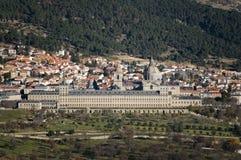 kloster san spain för el escorial lorenzo madrid Arkivbild