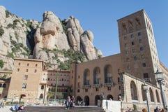 Kloster Santa Mariade-Montserrat spanien Lizenzfreie Stockfotografie