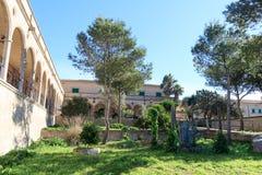 Kloster Santuari de Cura på Puig de Randa, Majorca Arkivbilder