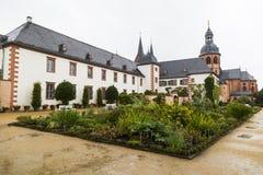 Kloster Seligenstadt: Benedictineabbotskloster och örtagård ger Royaltyfria Bilder