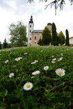 Kloster Sisatovac i Serbien Arkivfoton