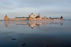 kloster solovky russia Royaltyfri Foto