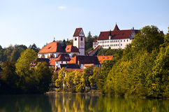 Kloster St. Mang In Fussen, Hoses Schloss Royalty Free Stock Images