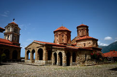 Kloster St Naum nahe Ohrid, Mazedonien Stockfotografie