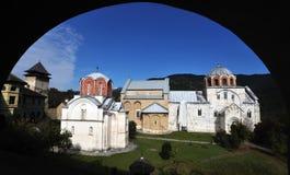 Kloster Studenica, Serbia Arkivbilder