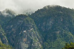 Kloster Taktsang Palphug (alias das Tigernest), Paro, Bhutan Lizenzfreies Stockbild