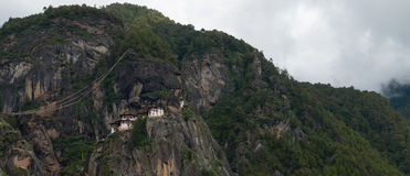 Kloster Taktsang Palphug (alias das Tigernest), Paro, Bhutan Lizenzfreie Stockfotos