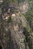 Kloster Taktsang Palphug (alias das Tigernest), Paro, Bhutan Lizenzfreie Stockbilder