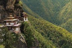 Kloster Taktsang Palphug (alias das Tigernest), Paro, Bhutan Stockfotografie