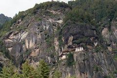 Kloster Taktsang Palphug (alias das Tigernest), Paro, Bhutan Stockfotos