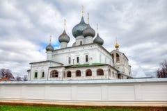 Kloster in Uglich, Russland Stockbild