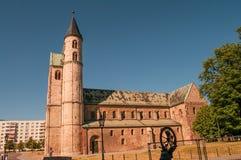 Kloster Unser Lieben Frauen i Magdeburg, Tyskland arkivbilder