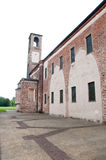 Kloster von angekündigt, gelegen am abbiategrasso ein Landcl Lizenzfreie Stockbilder