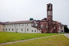 Kloster von angekündigt, gelegen am abbiategrasso ein Landcl Lizenzfreie Stockfotos