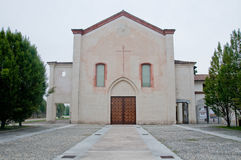 Kloster von angekündigt, gelegen am abbiategrasso ein Landcl Lizenzfreies Stockbild