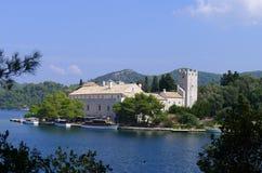 Kloster von Heiligem Mary, Insel Mljet, Kroatien Stockfotografie