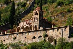 Kloster von Mystra, nahe Sparta, Griechenland Lizenzfreie Stockbilder