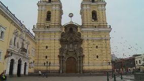 Kloster von San Francisco stock footage