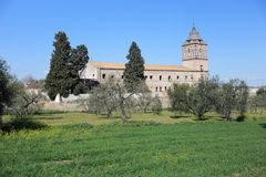 Kloster von San Isidoro del Campo in Santiponce Sevilla Stockbild