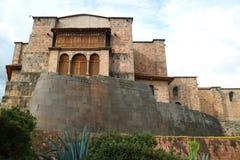 Kloster von Santo Domingo Church Built über Coricancha, der Tempel des Sun der Inkas in Cusco, Peru lizenzfreies stockfoto