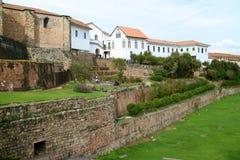 Kloster von Santo Domingo, das über ehemaligem Tempel des Sun der Inkas oder des Coricancha, Cusco, Peru errichtete lizenzfreie stockfotografie