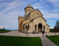 Kloster von St. Nino bei Bodbe in Georgia stockbild