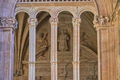 Kloster von St Stephen Soto-Treppenhaus Salamanca spanien lizenzfreies stockfoto