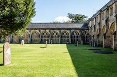 Kloster in Wells-Kathedrale Stockbilder