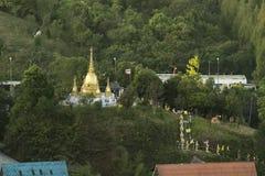 klosterbergtempel uspenskiy ukraine Arkivbilder