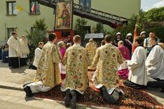 klosterbroder för procession för christicorpusdag Arkivbilder