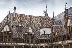 Klosterhärbärgar de dieu i burgundy Arkivfoton