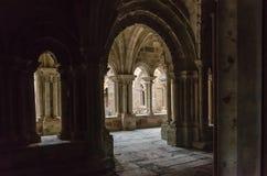 KlosterklosterSanta Maria la som är verklig i Aguilar de Campoo Palencia royaltyfri bild