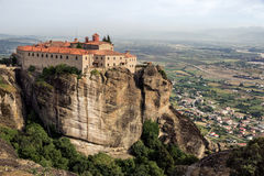Klosterlandschaft Meteora Griechenland Lizenzfreie Stockbilder