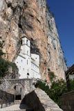 klostermontenegro ostrog Arkivbilder